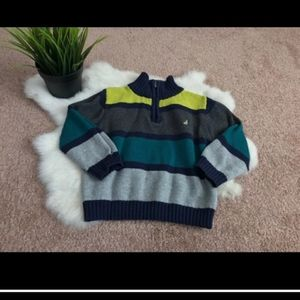 Nautica Boy Sweater 1/2 Zip Sz 12M